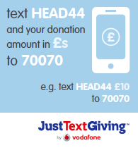 Donate by text via JustTextGiving